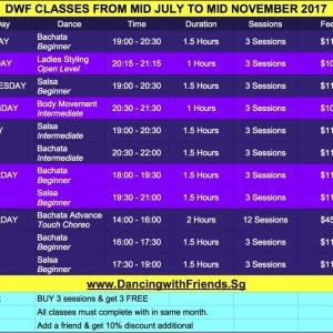 DWF Classes July - Nov