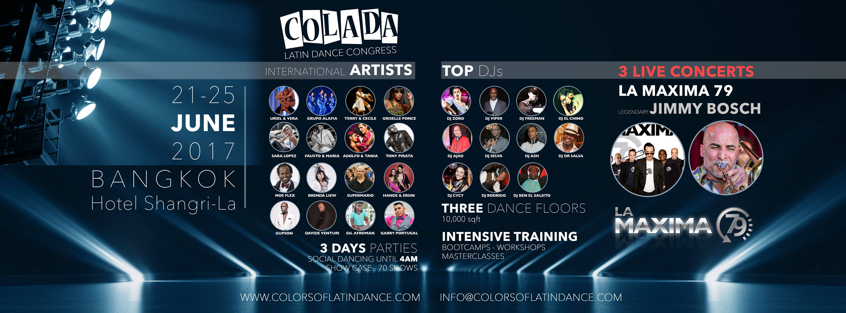 The Colada Latin Dance Congress Bangkok 2017 Is A 5 Day Latin Music And Dance Event Featuring A